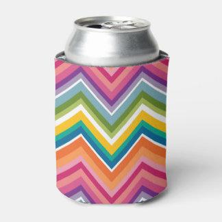 シェブロン巨大でカラフルなパターン 缶クーラー