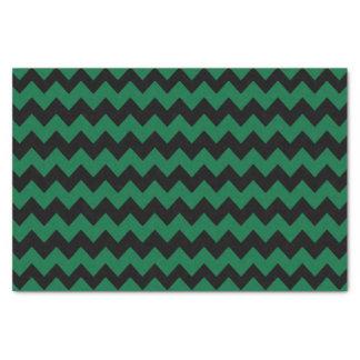 シェブロン深緑色および黒いパターン 薄葉紙