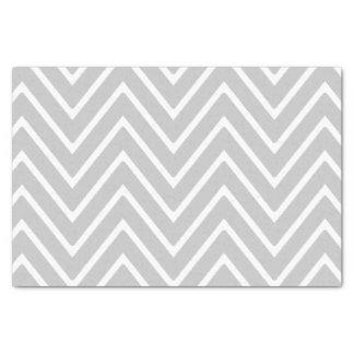 シェブロン灰色および白いパターン2 薄葉紙