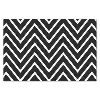 シェブロン白黒パターン2 薄葉紙