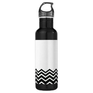 シェブロン白黒パターン ウォーターボトル