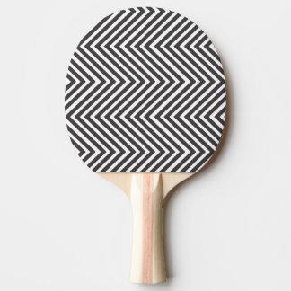 シェブロン白黒パターン 卓球ラケット