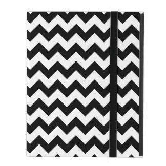 シェブロン白黒伝統的なパターン iPad ケース