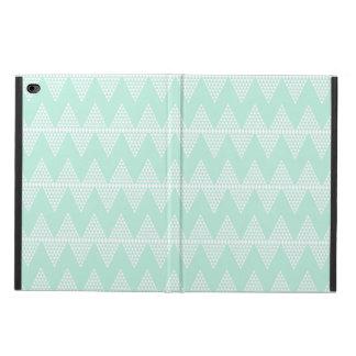 シェブロン真新しい緑の白く幾何学的なパターン POWIS iPad AIR 2 ケース