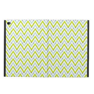 シェブロン真新しく青及び緑の幾何学的なパターン POWIS iPad AIR 2 ケース
