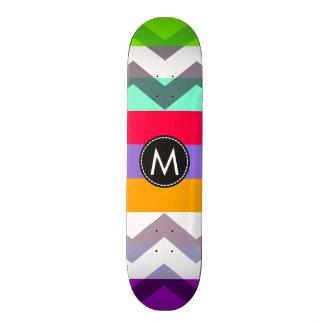 シェブロン粋でシックなストライプなパターン#8 スケートボード