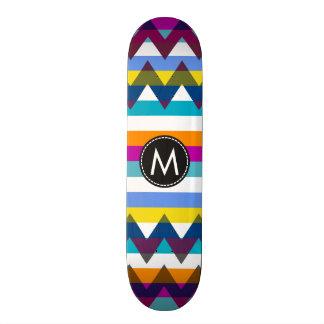 シェブロン粋なストライプなパターン#12 スケートボード