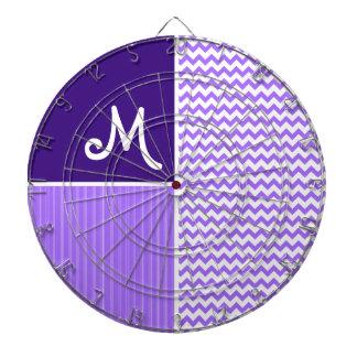 シェブロン紫色のパターン ダーツボード