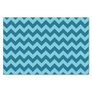 シェブロン青いパターンの粋な陰 薄葉紙