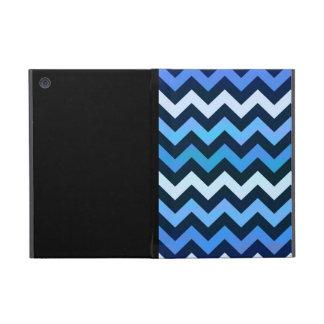 シェブロン青いパターン iPad MINI ケース