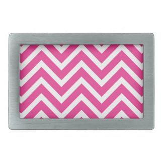 シェブロン鮮やかなピンクのパターン 長方形ベルトバックル