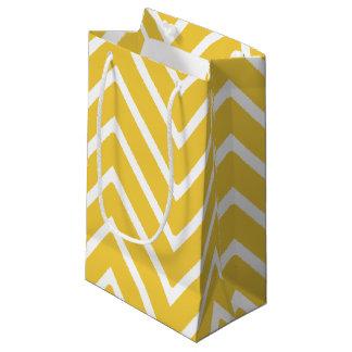シェブロン黄色いパターン2 スモールペーパーバッグ
