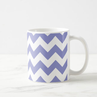 シェブロン1本のすみれ色のチューリップ コーヒーマグカップ