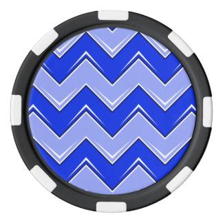 シェブロン8の青 ポーカーチップ