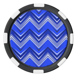 シェブロン9の青 ポーカーチップ