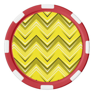 シェブロン9の黄色 ポーカーチップ