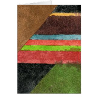 """""""シェブロン""""の抽象デザインの挨拶状 カード"""