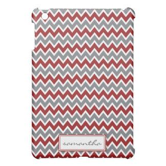シェブロンPern (あずき色) iPad Miniカバー
