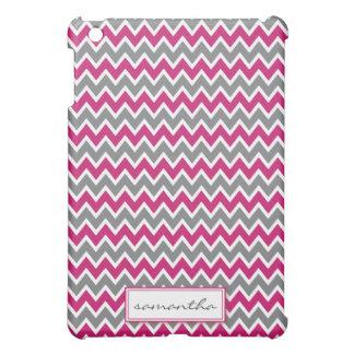シェブロンPern (明るい赤紫色) iPad Miniケース