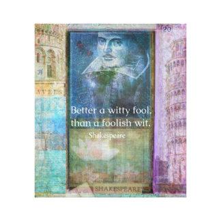 シェークスピアのおもしろいな引用文 キャンバスプリント