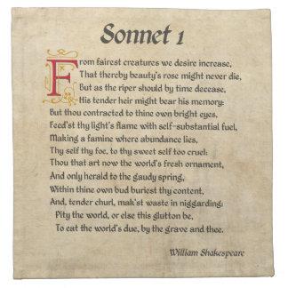シェークスピアのソネット1の羊皮紙 ナプキンクロス