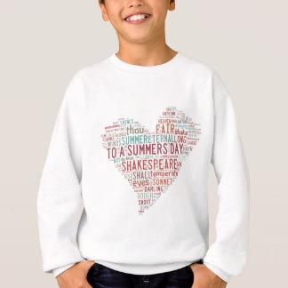 シェークスピアのソネット18 スウェットシャツ