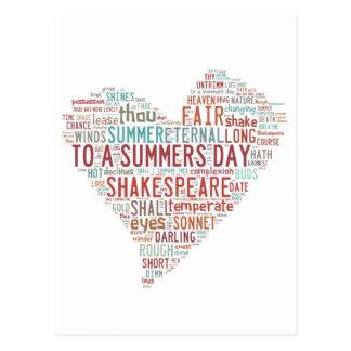 シェークスピアのソネット18 ポストカード