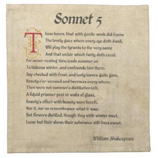 シェークスピアのソネット5の羊皮紙 ナプキンクロス