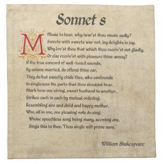 シェークスピアのソネット8の羊皮紙 ナプキンクロス
