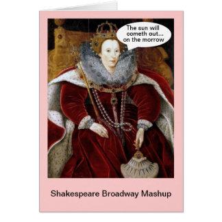 シェークスピアのブロードウェイMashup -アニー カード