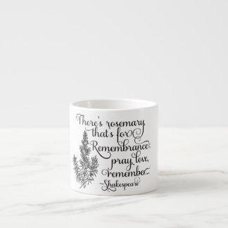 シェークスピアのマグ、記憶のためのローズマリー、ハムレット エスプレッソカップ