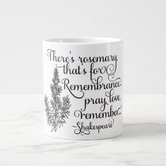 シェークスピアのマグ、記憶のためのローズマリー、ハムレット ジャンボコーヒーマグカップ