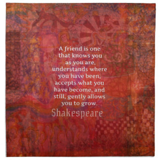 シェークスピアの友情の引用文 ナプキンクロス