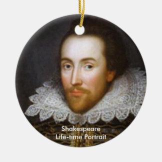 シェークスピアの寿命のポートレート セラミックオーナメント