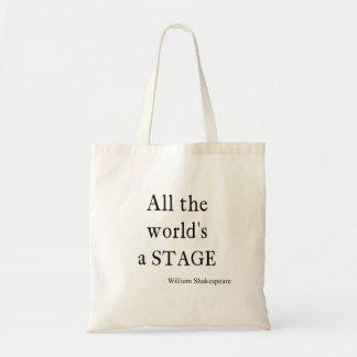 シェークスピアの引用文はすべての世界ステージの引用文です トートバッグ