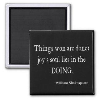 シェークスピアの引用文をする事によって勝たれる喜びの精神のうそ マグネット