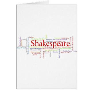 シェークスピアの戯曲によってインスパイアワイシャツ、マグ、等 グリーティングカード