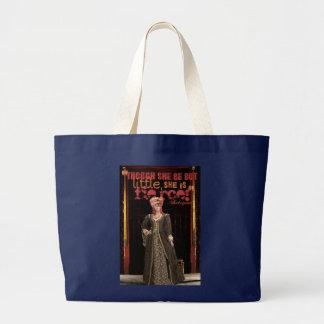 シェークスピアの激しい引用文 ラージトートバッグ