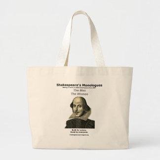 シェークスピアの独白のジャンボ戦闘状況表示板 ラージトートバッグ