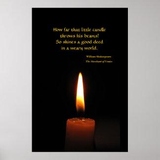 シェークスピアの蝋燭炎の引用語句 ポスター