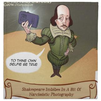 シェークスピアはおもしろいなSelfieを取ります ナプキンクロス