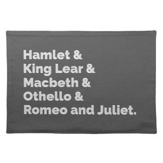 シェークスピアはIを遊びます ランチョンマット