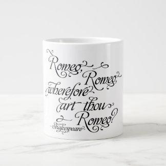 シェークスピアマグ、ロミオおよびJulietの引用文 ジャンボコーヒーマグカップ