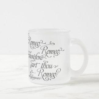 シェークスピアマグ、ロミオおよびJulietの引用文 フロストグラスマグカップ