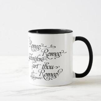 シェークスピアマグ、ロミオおよびJulietの引用文 マグカップ