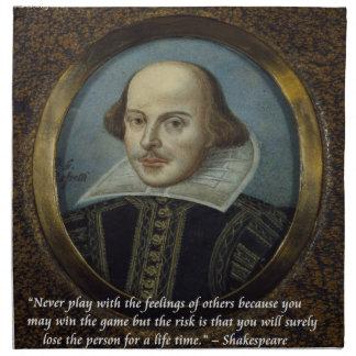 シェークスピア及び彼の有名な感覚の引用文 ナプキンクロス