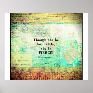 シェークスピア著小さく、激しい引用語句 ポスター