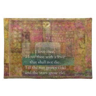 シェークスピア著愛についての感動的な引用文 ランチョンマット