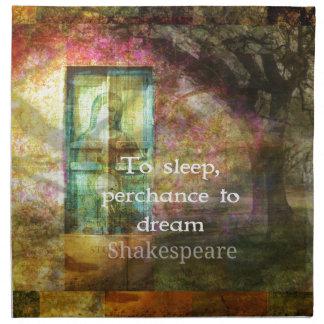 シェークスピア著真夏の夜の夢の引用文 ナプキンクロス
