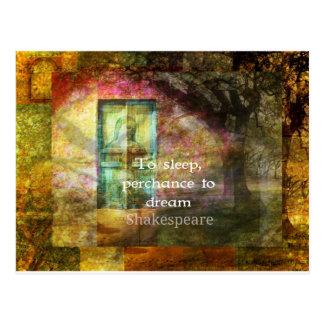 シェークスピア著真夏の夜の夢の引用文 ポストカード